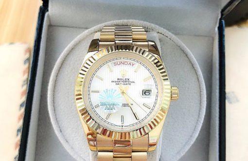 Đồng hồ Rolex máy cơ nhật dây kim loại`